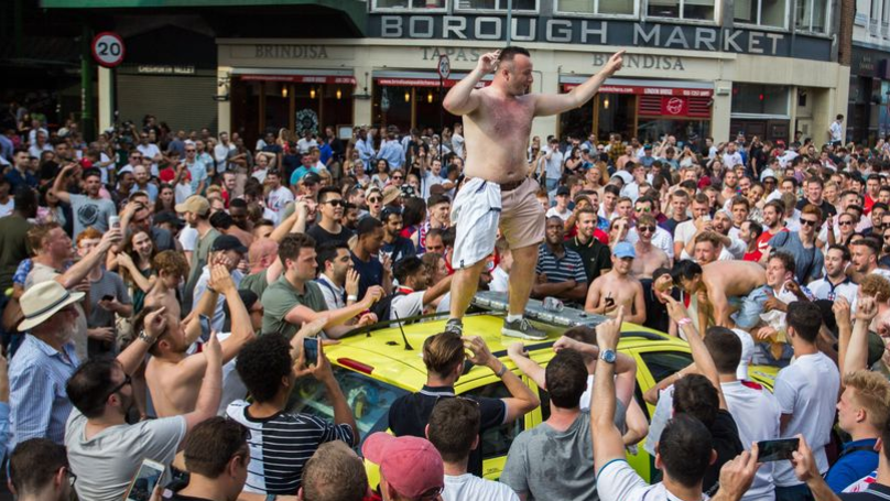 Some England Fans Took The Win Against Sweden Too Well