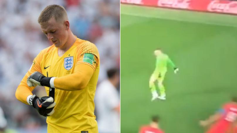 Jordan Pickford Pulls Off The Cristiano Ronaldo Celebration After England Win