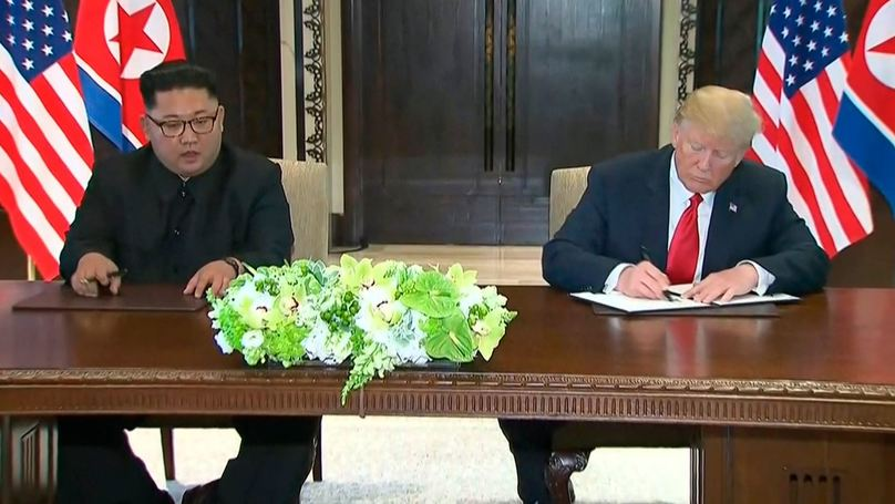 ​North Korean Denuclearisation Process To Start 'Very Quickly' As Donald Trump And Kim Jong Un Sign Document