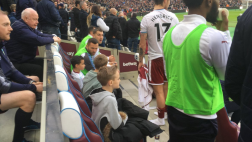 Burnley Substitutes Let Kids Sit On The Bench To Escape Mayhem From The Stands