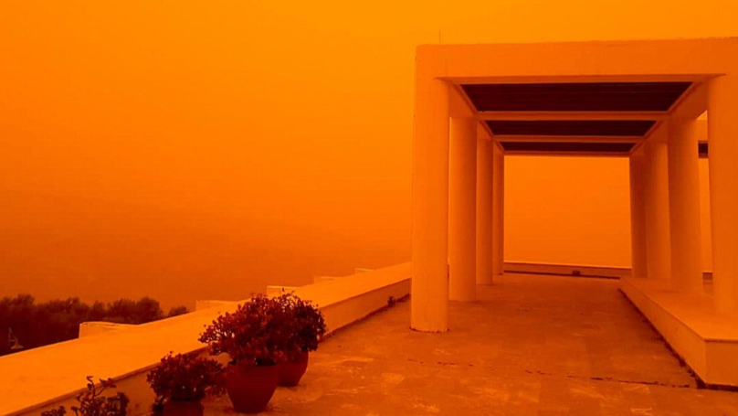 Photos Show Surreal Settings As Crete Turns Orange