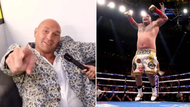 "Tyson Fury: ""Lil Fat F***er! If Andy Ruiz Wants A Slap Too, He Can Have One Too"""