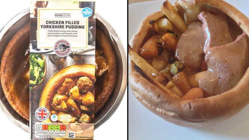 Aldi Is Selling A Huge Yorkshire Pudding Filled With A Full Roast Dinner