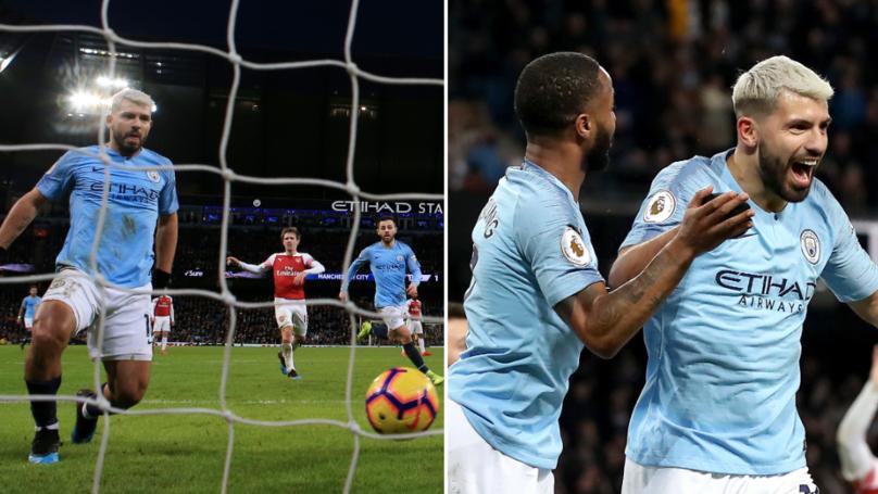 Sergio Aguero Scores Hat-Trick As Manchester City Beat Arsenal 3-1