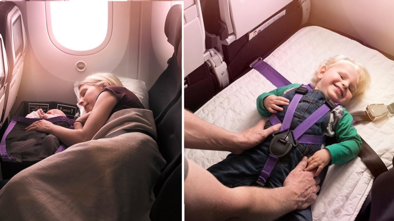 Airline's New Economy Seats Let Parents And Babies Lie Down Together