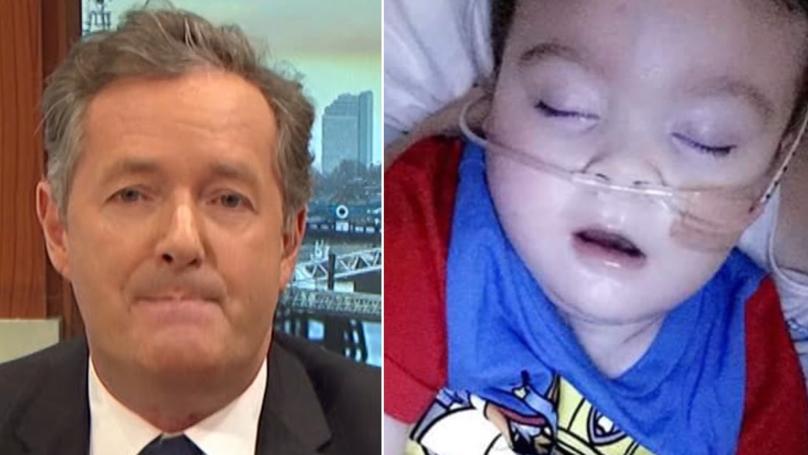 Piers Morgan Throws His Support Behind Alfie Evans' Parents
