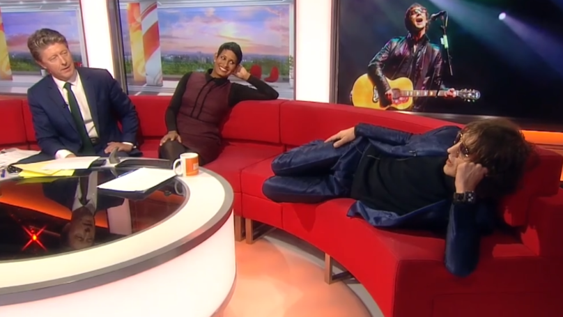 Richard Ashcroft Climbs On Sofa During Bizarre BBC Breakfast Interview