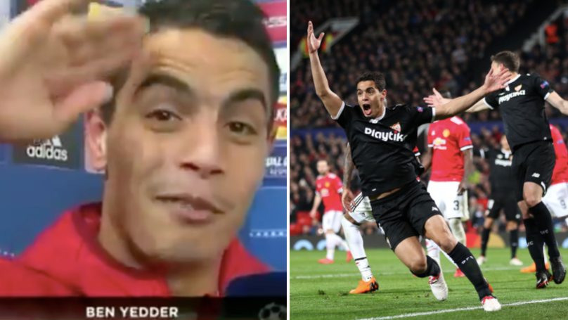 Wissam Ben Yedder's Reaction To Scoring Two Goals Against Manchester United Is The Best Ever