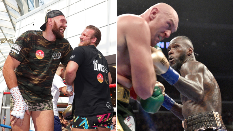 The Supportive Message Ben Davison Gave To Tyson Fury During Deontay Wilder Fight