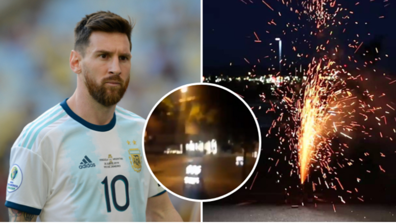 Fireworks Set Off Every 20 Minutes In Early Hours Outside Argentina's Hotel Ahead Of Brazil Clash