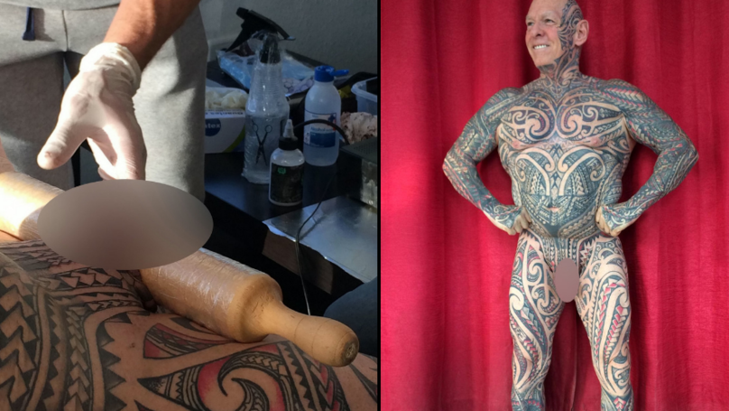 Man Spends £7.5K To Get Every Body Part Tattooed Including His Penis