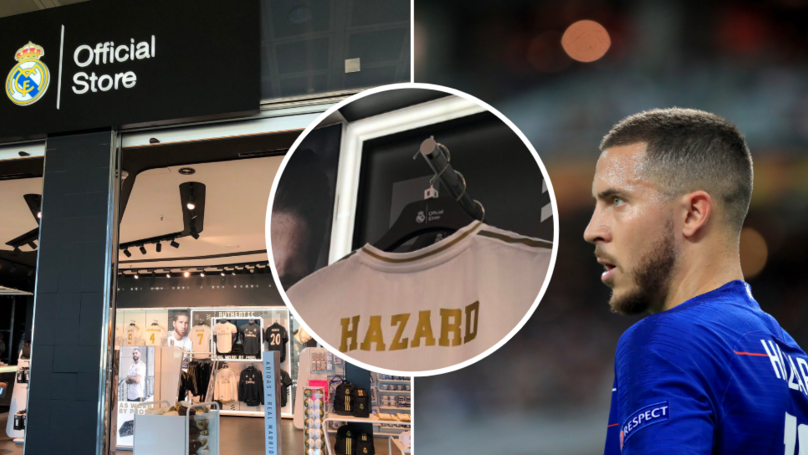 Eden Hazard Shirts Are Now On Sale In Real Madrid's Club Store At The Bernabeu