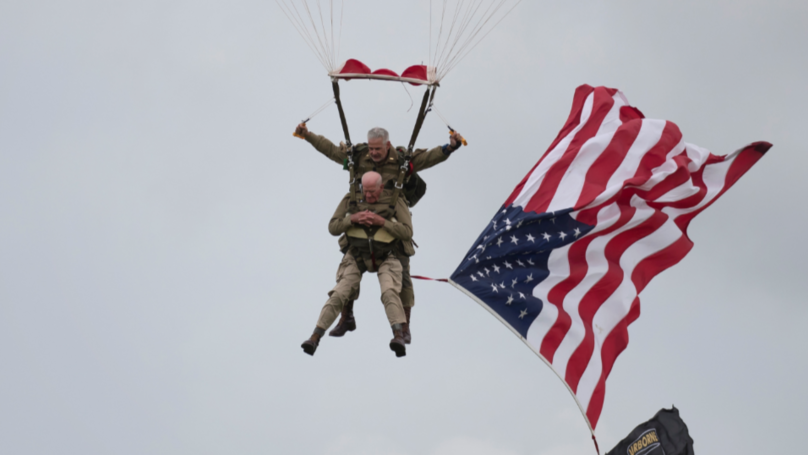 War Veteran Who Parachuted In D-Day Relives Courageous Jump