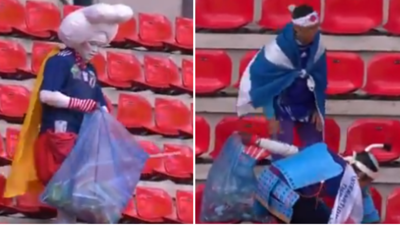 Japanese Fans Clean Up Rubbish In Stadium After Women's World Cup Win Over Scotland