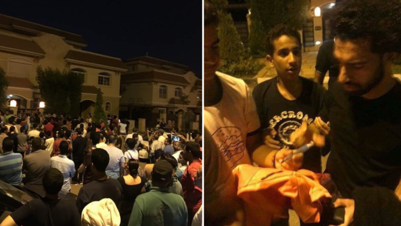 Fans Gather Outside Mo Salah S House In Egypt He Comes
