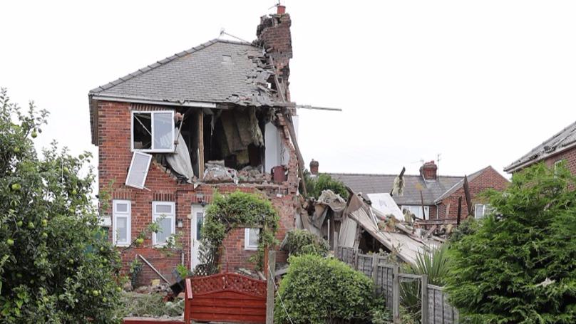 Huge Gas Explosion Destroys House In Sunderland