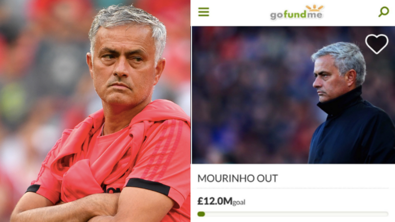 Man Utd Fan Starts GoFundMe Account To Raise £12 Million For Jose Mourinho Sacking