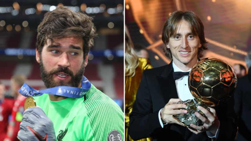 "Liverpool's Alisson Doesn't Believe He'll Win Ballon d'Or Because He's ""Just A Goalkeeper"""