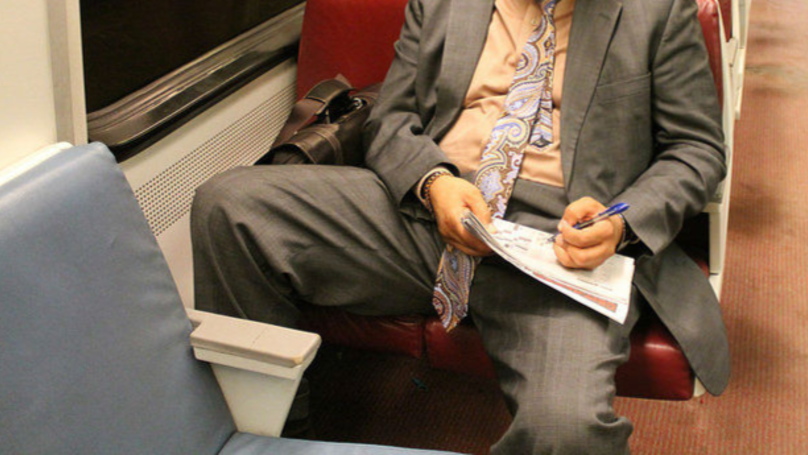 Anarchist Group Angers London Underground Commuters With 'No Manspreading' Posters