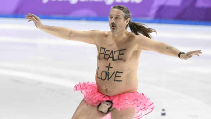 ​Olympics Invaded By Streaker Wearing Nothing But A Tutu and Monkey Penis Pouch