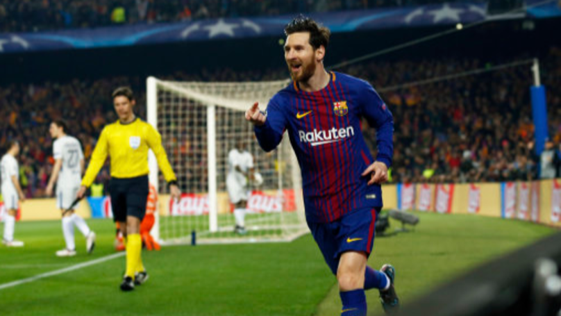Lionel Messi Scores His 100th Champions League Goal