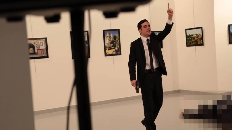 Someone Is Claiming That The Russian Ambassador Shooting Was Staged