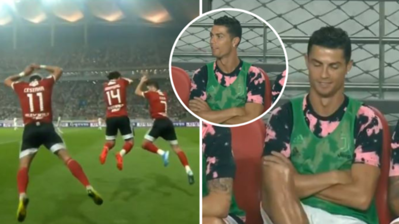 "K League All Stars Perform Ronaldo's ""SIUUUU!"" Celebration, He Didn't Look Impressed"