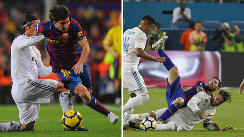 Twitter User Creates Compilation Video Of Sergio Ramos' Questionable Tackles On Lionel Messi