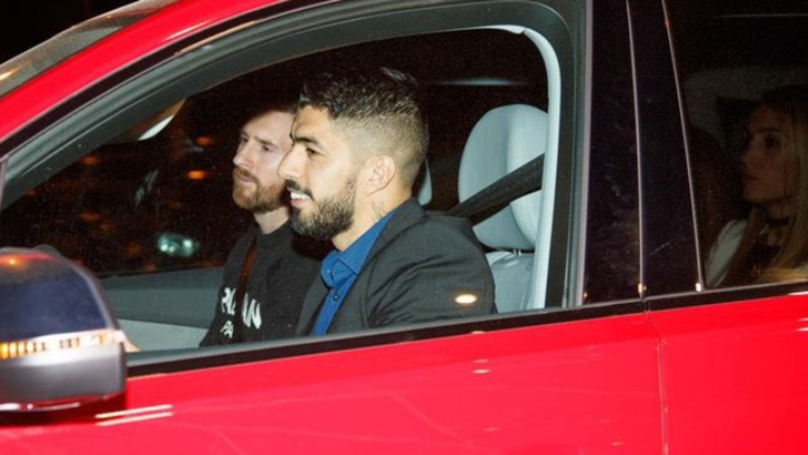 Luis Suarez Made His Wife Sit In The Back So Lionel Messi Could Ride In The Front