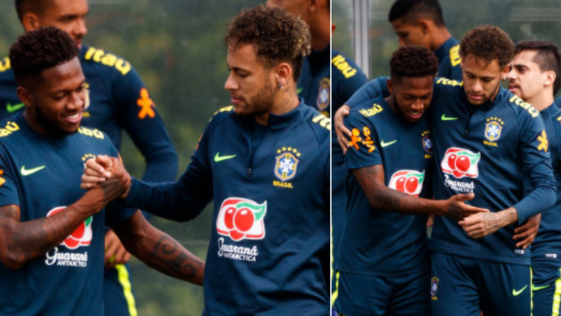 Watch: Neymar Congratulates Fred On Completing Transfer To Manchester United