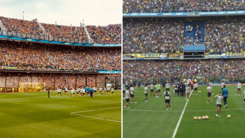 Boca Juniors Fans Show Incredible Support For Team Ahead Of Biggest Game In Their History