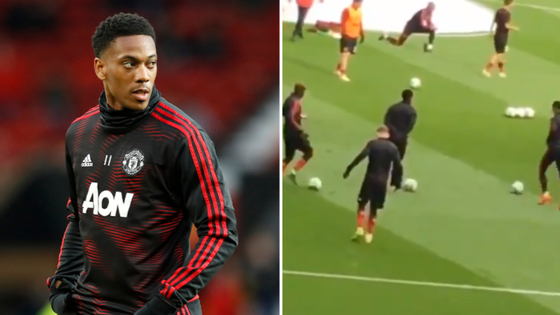 Video Of Anthony Martial 'Warming Up' Suggests Why He Didn't Play