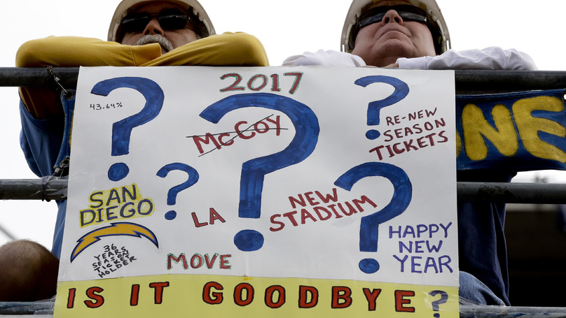 San Diego Chargers Confirm Move To Los Angeles