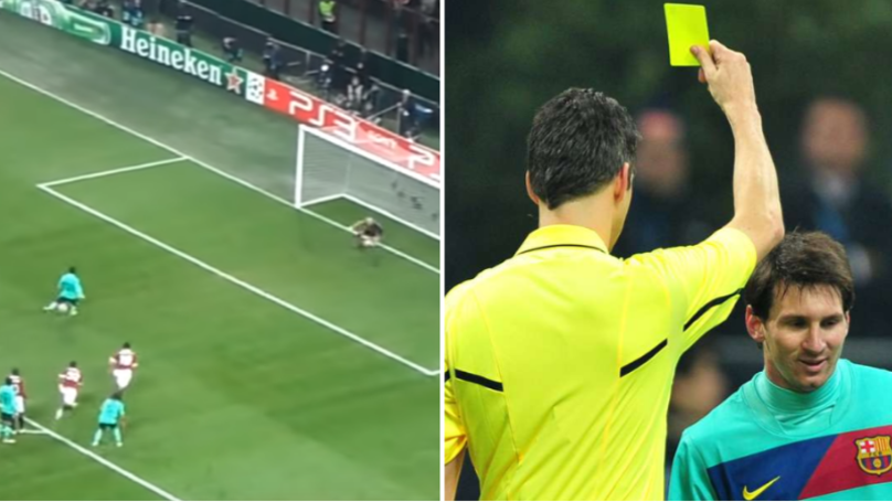 When Lionel Messi Got Booked For An Illegal Penalty In 2011