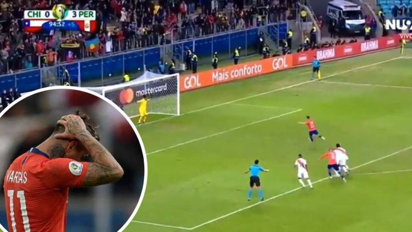 Chile's Eduardo Vargas Embarrassingly Failed An Injury Time Panenka Penalty In 3-0 Defeat To Peru