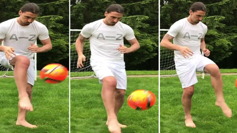 WATCH: Zlatan Ibrahimovic Kick A Ball For The First Time Since Surgery