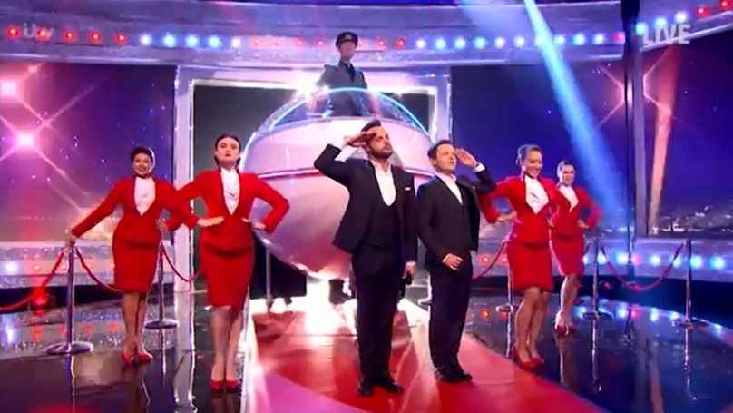 Ant McPartlin Gets Hit By Massive 'Plane' On 'Saturday Night Takeaway'