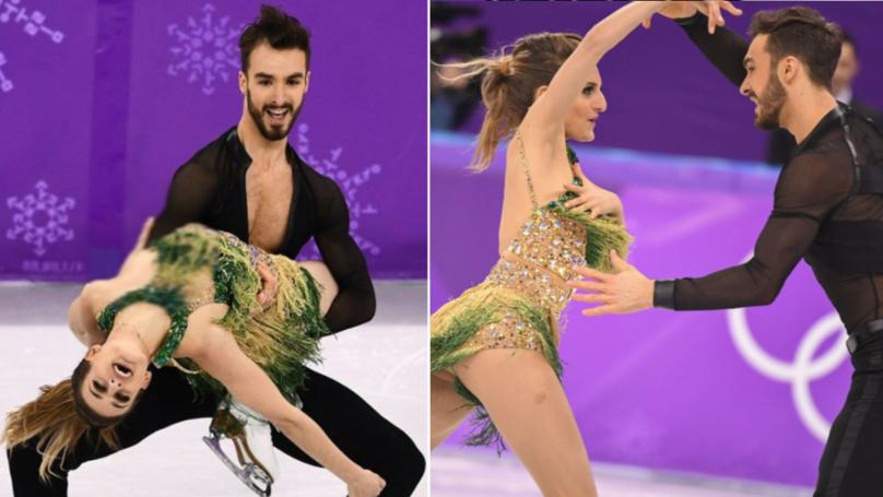 Ice Skater Gabriella Papadakis Endures Nightmare Wardrobe Malfunction Dress Undone