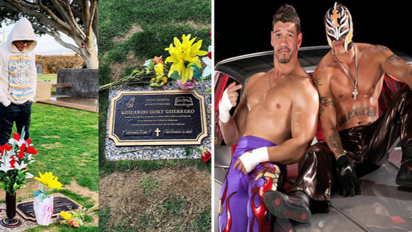 Rey Mysterio Made An Emotional First Visit To Eddie Guerrero's Grave