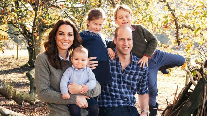 路易王子在家庭照片了皇家的圣诞贺卡