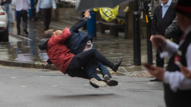 Man Takes Down 'Robber' In Manchester City Centre With Rugby Tackle