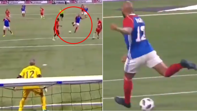 Thierry Henry Rolls Back The Years With Classic 'No Look Fake Pass' To Zinedine Zidane