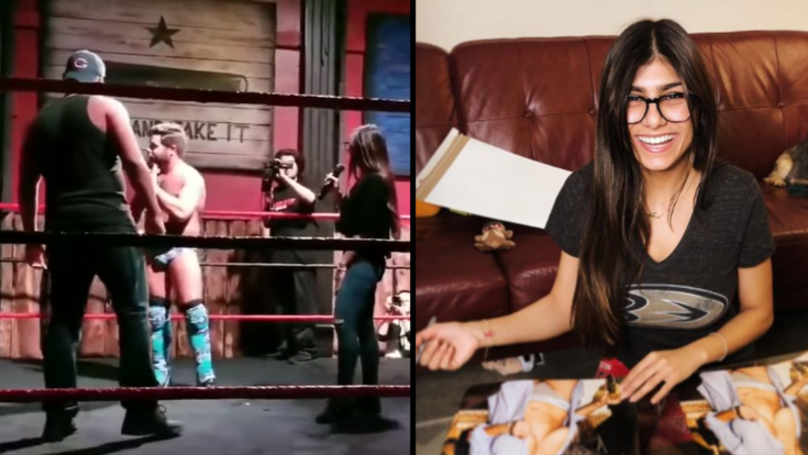 Joey Ryan Invites Mia Khalifa Into The Ring After She Criticised Wrestling