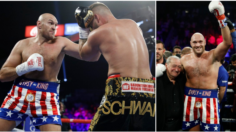 Fury vs Schwarz result: Tyson Fury sweeps aside German opponent in second round