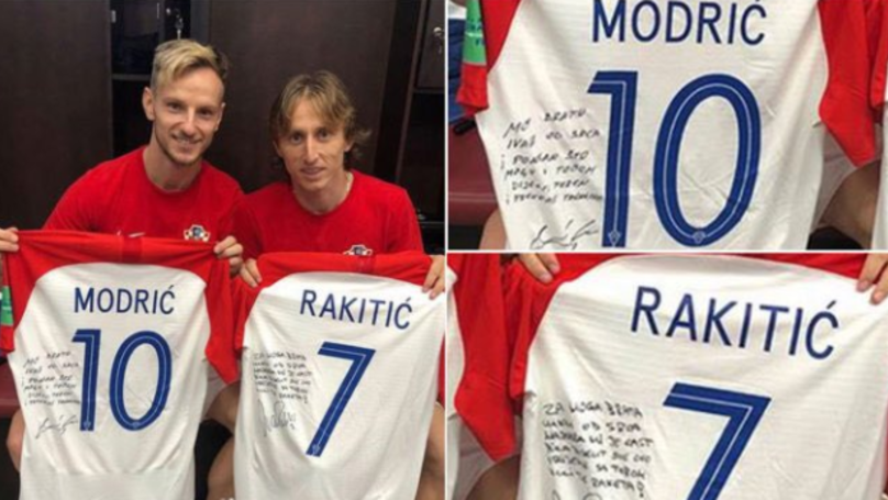 541a72e2d Luka Modric And Ivan Rakitic Swapped Shirts After World Cup Final, Left  Touching Messages