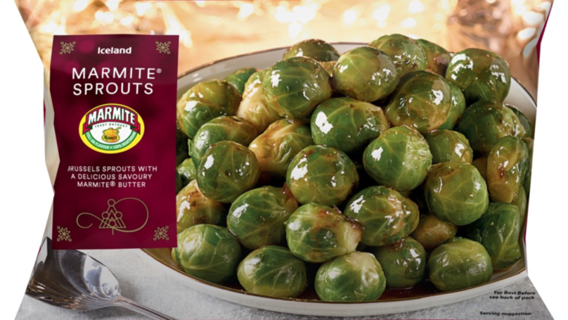 Iceland Is Flogging Marmite Brussels Sprouts For Christmas
