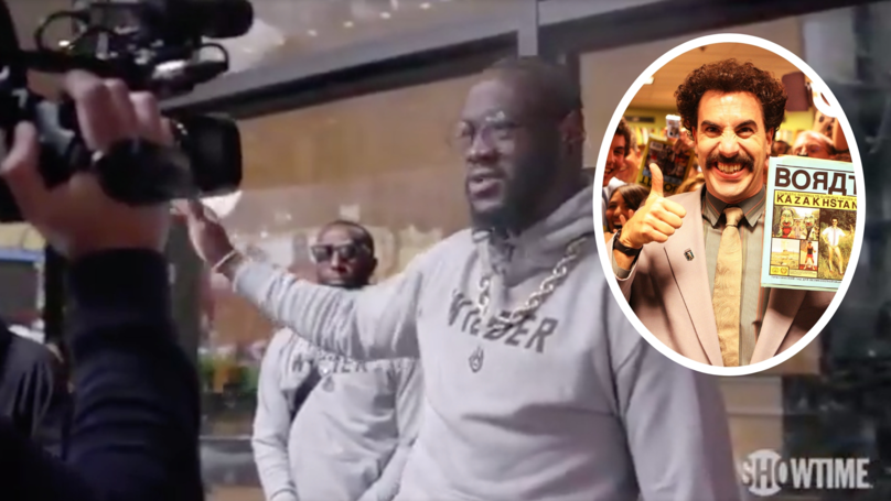 Fans Compare Deontay Wilder To Borat After His Shocking Attempt To Do An English Accent