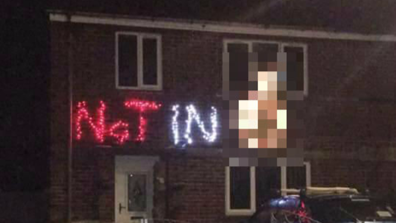 'Offensive Christmas Lights' Guy Returns With A Message For Trick-Or-Treaters
