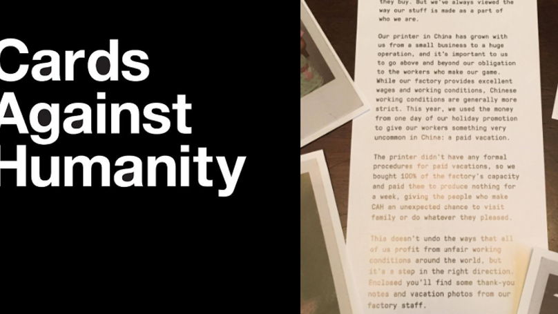 Cards Against Humanity Send Out Fantastic Christmas Message