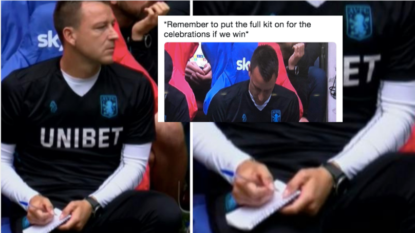 John Terry Writing In His Notepad Has Become An Internet Meme
